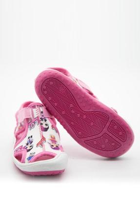 modawars Kız Çocuk Beyaz Pembe Kumaş Sandalet 2