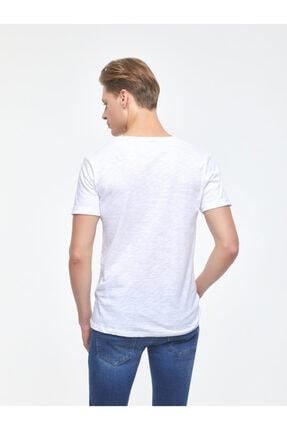 Ltb Erkek  Beyaz  Kısa Kol Geniş Yaka T-Shirt 012208450660890000 3