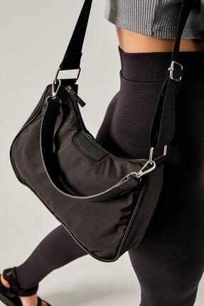 Shule Bags Kadın Siyah Katrine Paraşüt Kumaş Kol Çantası 3