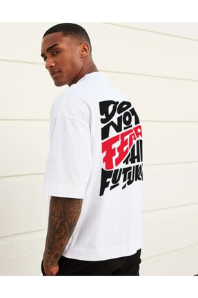 Ghedto Fear Oversize Beyaz Tshirt 1