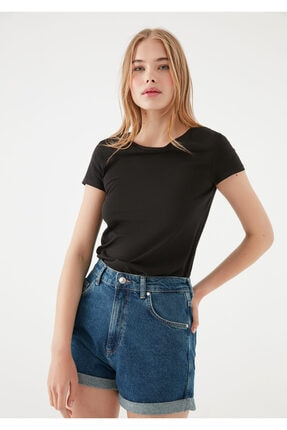 Mavi Siyah Basic Tişört 1