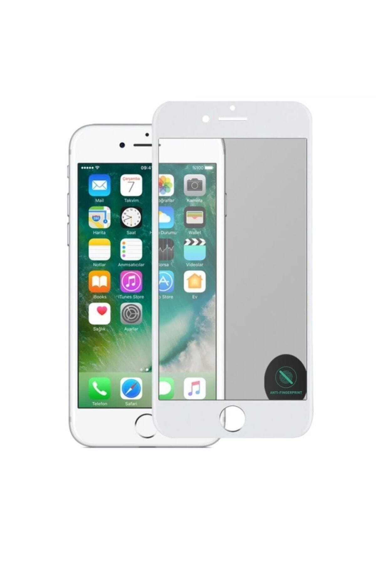 Iphone 7plus/8plus Mat Seramik Tam Kaplama Ekran Koruyucu Beyaz