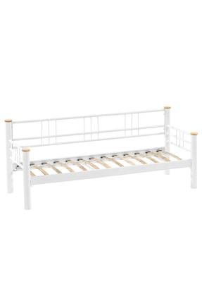 Unimet Beyaz Antrasit Kappis Metal Sofa Üçlü Koltuk  70x200 cm 3