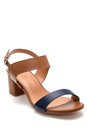 Derimod Kadın Kahverengi Topuklu Sandalet 1