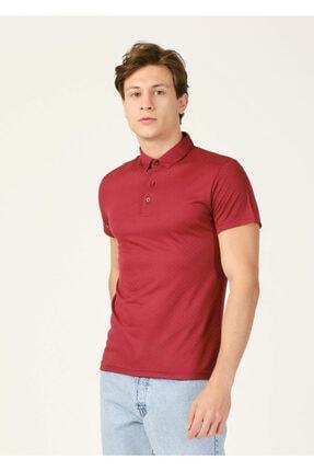 Erkek Bordon Desenli Polo Yaka Battal T-shirt resmi