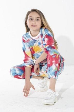 zepkids Kız Çocuk Eşofman Takımı Batik Desenli 6-9 Yaş 1