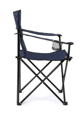 Walke Katlanabilir Kamp Sandalyesi Piknik Sandalyesi Plaj Sandalyesi Mavi Taşıma Çantalı 2