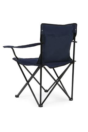 Walke Katlanabilir Kamp Sandalyesi Piknik Sandalyesi Plaj Sandalyesi Mavi Taşıma Çantalı 3