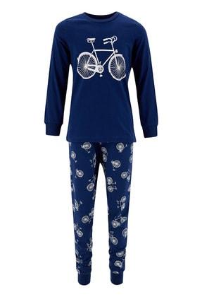 Defacto Erkek Çocuk Bisiklet Basklı Pijama Takımı 2