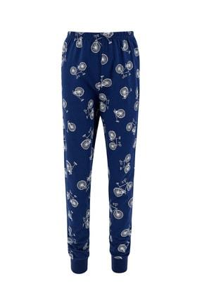 Defacto Erkek Çocuk Bisiklet Basklı Pijama Takımı 4
