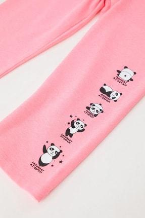 Defacto Kız Çocuk Panda Baskılı Kapri Boy Tayt 2