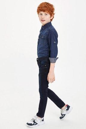 Defacto Erkek Çocuk Çivit Mavisi Kot Jeans 1