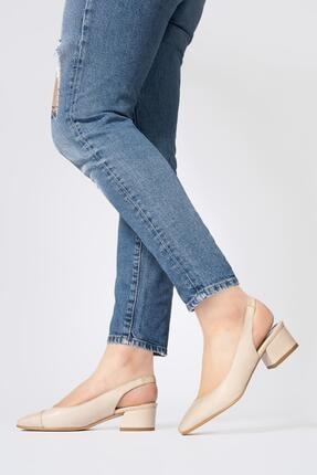 CZ London Kadın Lastikli Sandalet Açık Kısa Topuklu Ayakkabı 3