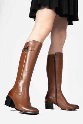 CZ London Kadın Fermuarlı Çizme Tokalı Kışlık Ayakkabı 1