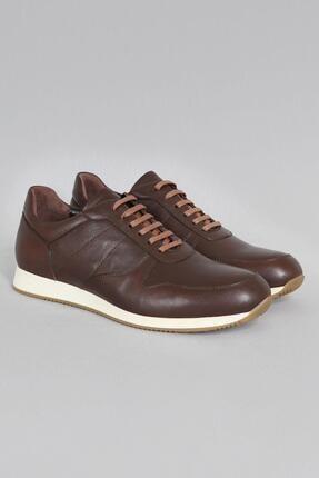 CZ London Erkek Kahverengi Hakiki Deri Sneaker Spor Ayakkabı 1