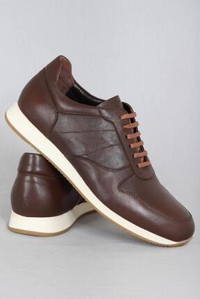 CZ London Erkek Kahverengi Hakiki Deri Sneaker Spor Ayakkabı 3