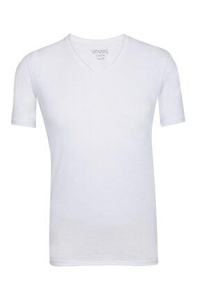 SÜVARİ Dar Kalıp V Yaka Likralı T-shirt 2'li 2