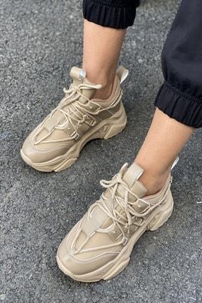İnan Ayakkabı Kadın Bağcık Detaylı Sneaker 2