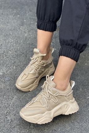 İnan Ayakkabı Kadın Bağcık Detaylı Sneaker 3