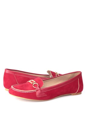 Fitbas 784367 558 Kadın Kırmızı Büyük & Küçük Numara Babet 4