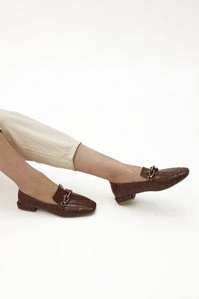 Marjin Kadın Loafer Ayakkabı Alvakahve Croco 3