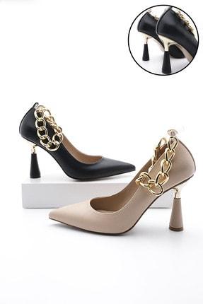 Marjin Kadın Stiletto Topuklu Ayakkabı Nazitasiyah 0