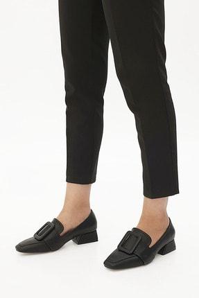 Marjin Kadın Günlük Klasik Topuklu Ayakkabı Jiyonasiyah 1