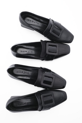 Marjin Kadın Günlük Klasik Topuklu Ayakkabı Jiyonasiyah 2