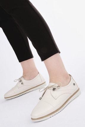 Marjin Kadın Hakiki Deri Comfort Ayakkabı Demaskrem 1