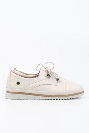 Marjin Kadın Hakiki Deri Comfort Ayakkabı Demaskrem 2
