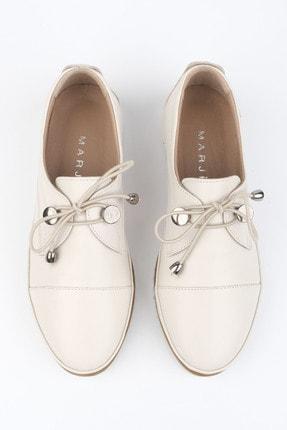 Marjin Kadın Hakiki Deri Comfort Ayakkabı Demaskrem 3