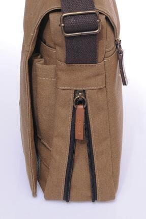Sword Bag Bej Kanvas Unısex Laptop & Evrak Çantası Sw700 3