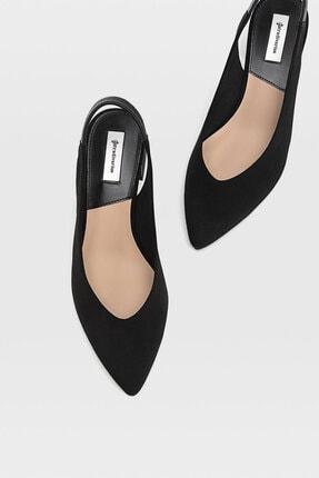 Stradivarius Kadın Siyah Sivri Burunlu Arkası Açık Topuklu Ayakkabı 19150770 3