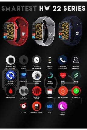 SMARTEST Hw22 Series Suya Dayanıklı Nabız & Tansiyon Ölçer Çok Fonksiyonlu Ios Ve Android Uyumlu Akıllı Saat 1