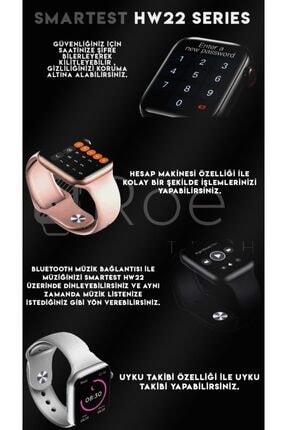 SMARTEST Hw22 Series Suya Dayanıklı Nabız & Tansiyon Ölçer Çok Fonksiyonlu Ios Ve Android Uyumlu Akıllı Saat 2