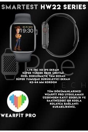 SMARTEST Hw22 Series Suya Dayanıklı Nabız & Tansiyon Ölçer Çok Fonksiyonlu Ios Ve Android Uyumlu Akıllı Saat 4