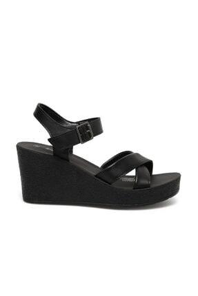 Polaris 317257.Z 1FX Siyah Kadın Dolgu Topuklu Sandalet 101024851 1
