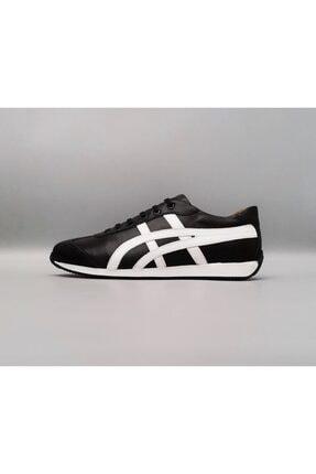Hakiki Deri Tiger Model Siyah Spor Ayakkabı CSD022-2105