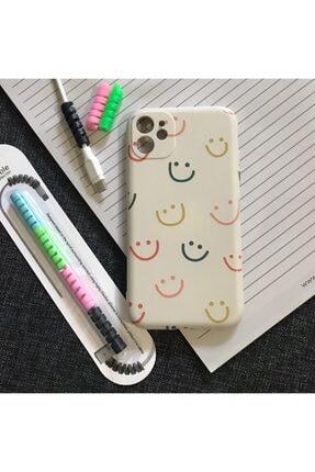 """SUPPO Iphone 11 Uyumlu Kamera Korumalı Logolu Lansman Kılıf+ Kablo Koruyucu """"new Collection"""" 0"""