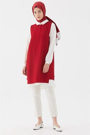 Kadın  Gizli Patlı Manşetli Takım-kırmızı Tk-u3019-11 resmi