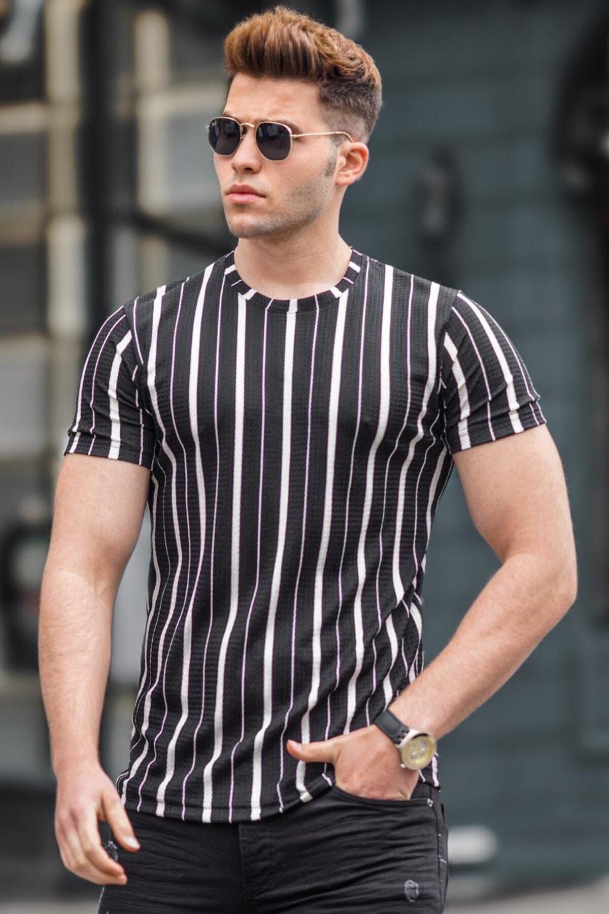 Erkek Siyah  T-Shirt 5266