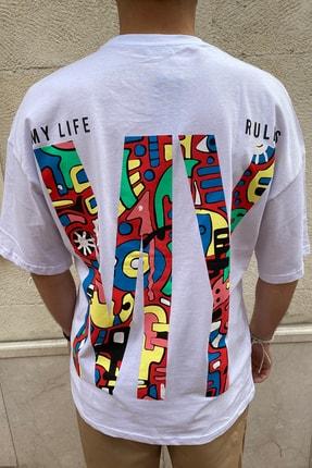 Valiberta Erkek My Life My Rules Oversize T-shirt 1