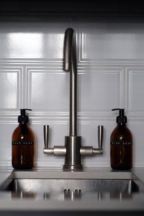 TriChi Design 300ml Amber Cam Sıvı Sabunluk Retro Tasarım 3d Hand Wash Etiket 1