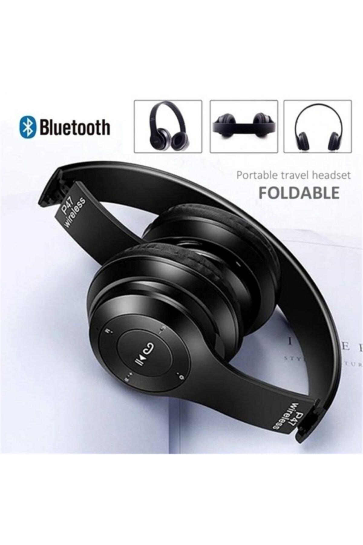 P47 5.0+edr Wireless Aux Kablolu Bluetooth Kulaklık 5.0+edr-p47