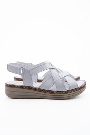 Marjin Kadın Beyaz Düz Topuklu Sandalet 4