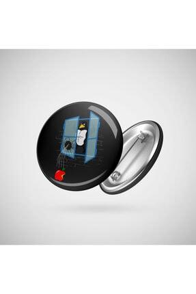 Brawny Linux Penguin Throws An Apple Thru The Window Rozet FIZELLO-0078157