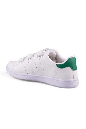 AlbiShoes Unisex Beyaz Yeşil Cırtlı Sneaker - Byc75 1
