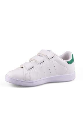 AlbiShoes Unisex Beyaz Yeşil Cırtlı Sneaker - Byc75 2
