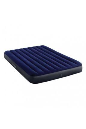 Intex Çift Kişilik Şişme Yatak + 2 Yastık + Pompa / Kamp Seti 1