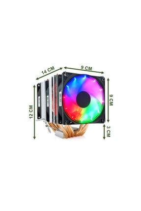 Snowman X6 Cpu Soğutucu Fan Rainbow 2